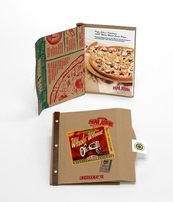Press Kit designed by Jeff Snell (snellercreative.com) for Papa John's. Via Behance.