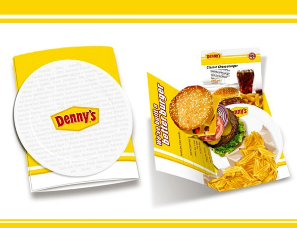 Press Kit designed by Natalia Morales for Denny's. Via Behance.