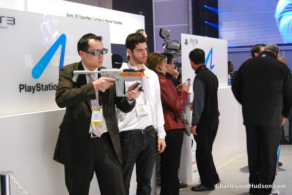 The Sony wand from Playstation 3 is showcased as a gun at CES 2011. Photo by Charles & Hudson via Flickr.