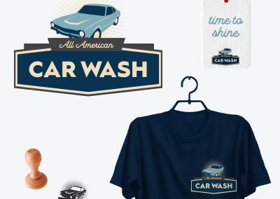 All-American Car Wash: Brand Identity Design