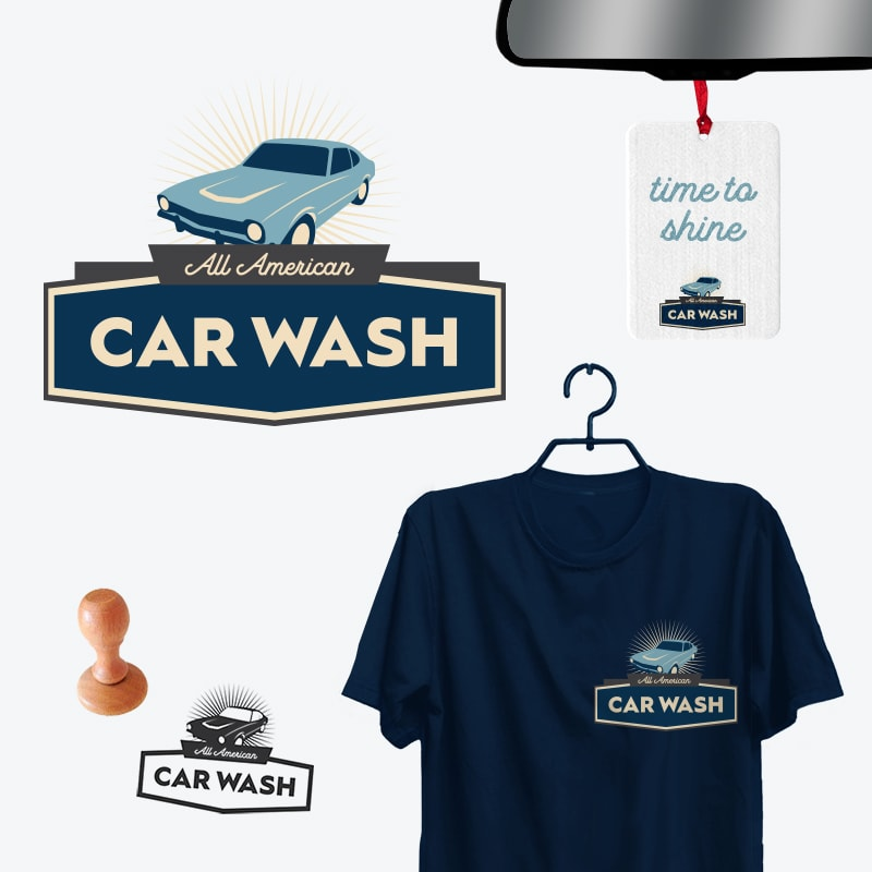 All-American Car Wash: Brand Identity Design